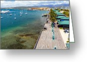 Eateries Greeting Cards - Playa de Ponce Greeting Card by George Oze