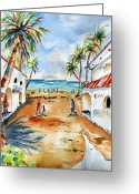 Carlin Greeting Cards - Playa del Carmen Greeting Card by Carlin Blahnik