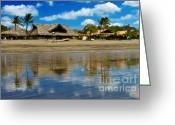 Playa Greeting Cards - Playa Venado Greeting Card by Heiko Koehrer-Wagner