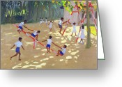 T-shirt Greeting Cards - Playground Sri Lanka Greeting Card by Andrew Macara