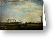 Amusement Parks Greeting Cards - Playgrounds of Old Greeting Card by Laurie Search