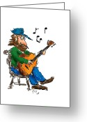Player Greeting Cards - Playing Fer Fun Greeting Card by Ross Powell