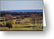 Playing Golf Greeting Cards - Playing golf Greeting Card by Miso Jovicic