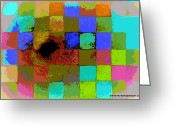 Paul Klee Greeting Cards - Playing The Field Greeting Card by Diane montana Jansson