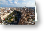 Rooftops Greeting Cards - Plaza de la Reina Greeting Card by Fabrizio Troiani