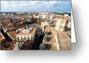 Rooftops Greeting Cards - Plaza de la Virgen Greeting Card by Fabrizio Troiani