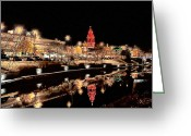 Kansas City Missouri Greeting Cards - Plaza Lights Kansas City Missouri Greeting Card by Joseph Ventura