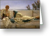 Sat Greeting Cards - Pleading Greeting Card by Sir Lawrence Alma-Tadema