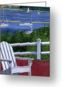 Bay Painting Greeting Cards - Pleasant Bay Cape Cod Greeting Card by Dominic White