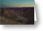 Desert Landscapes Greeting Cards - Please Stay Just a Little Bit Longer Greeting Card by Laurie Search