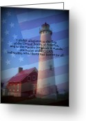 Pledge Of Allegiance Greeting Cards - Pledge Greeting Card by Terri K Designs