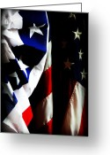 Indivisible Greeting Cards - Pledge to the USA Greeting Card by Susie Weaver