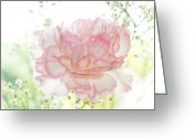 Floral Design Greeting Cards - Plenty of Joy and Sun. Natural Watercolor. Touch of Japanese Style Greeting Card by Jenny Rainbow