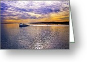 Great Point Greeting Cards - Plum Island Ferry Greeting Card by Vicki Jauron