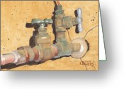 Ken Greeting Cards - Plumbing Greeting Card by Ken Powers