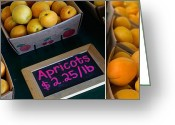 Apricots Photo Greeting Cards - Plump Greeting Card by Rebecca Cozart