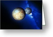 Most Photo Greeting Cards - Pluto And Charon Greeting Card by Detlev Van Ravenswaay