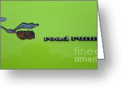 Runner Photo Greeting Cards - Plymoouth Road Runner in Lime Green Greeting Card by Paul Ward