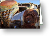 Rusted Cars Greeting Cards - Plymouth Greeting Card by Chris Cusumano