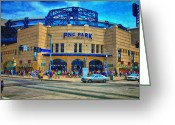 Philadelphia Phillies Photo Greeting Cards - PNC Park Greeting Card by Matt Matthews