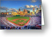 Pittsburgh Skyline Greeting Cards - PNC Park Greeting Card by Shawn Everhart