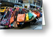 Street Vendor Greeting Cards - Pocketbooks and Purses Greeting Card by Paul Ward