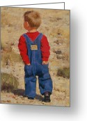 Overalls Greeting Cards - Pockets Greeting Card by Brian Freeman