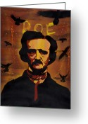 Spraypaint Greeting Cards - Poe Greeting Card by Iosua Tai Taeoalii
