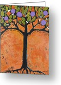 Best Sellers Greeting Cards - Poe Tree Greeting Card by Blenda Tyvoll