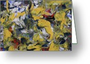 Rugby World Cup Greeting Cards - Poetry and Abstraction Greeting Card by Pam Tapp