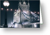 Street Light Greeting Cards - Poetry London Greeting Card by Gabriele Parafioriti