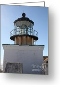 Light Houses Greeting Cards - Point Bonita Lighthouse in The Marin Headlands - 5D19687 Greeting Card by Wingsdomain Art and Photography