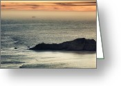 Alcatraz Greeting Cards - Point Bonita Lighthouse Greeting Card by Laszlo Rekasi