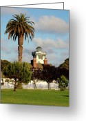 Art Of Building Greeting Cards - Point Fermin Light - San Pedro - Southern California Greeting Card by Christine Till