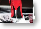 Fashion Photo Prints Greeting Cards - Point Greeting Card by John Rizzuto