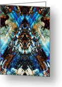 Native Digital Art Greeting Cards - Point Light Greeting Card by Dan Turner