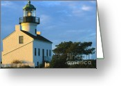 Sentinel Greeting Cards - Point Loma Lighthouse Greeting Card by Sandra Bronstein