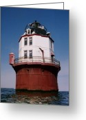 Maryland Greeting Cards - Point No Point Lighthouse Chesapeake Bay Maryland Greeting Card by Wayne Higgs