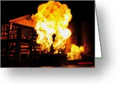 Gass Greeting Cards - Point of explosion Greeting Card by David Lee Thompson