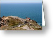 Light Houses Greeting Cards - Point Reyes Lighthouse in California 7D15976 Greeting Card by Wingsdomain Art and Photography
