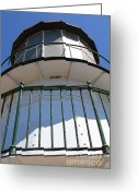 Light Houses Greeting Cards - Point Reyes Lighthouse in California 7D16010 Greeting Card by Wingsdomain Art and Photography
