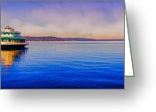 Ruston Greeting Cards - Point Ruston Awaiting Greeting Card by Ken Stanback