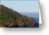 Fresnel Greeting Cards - Point Sur Lighthouse CA  Greeting Card by Christine Till