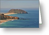 Offshore Greeting Cards - Point Sur Lighthouse on Central Californias coast - Big Sur California Greeting Card by Christine Till