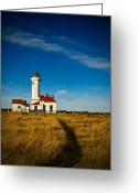Admiralty Greeting Cards - Point Wilson Lighthouse Greeting Card by Dan Mihai