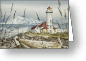 Greeting Card Greeting Cards - Point Wilson Lighthouse Greeting Card by James Williamson