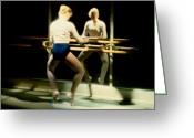 Ballet Art Greeting Cards - Pointe Work At The Barre Greeting Card by Dan Daulby