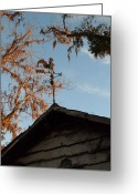 Weathervane Greeting Cards - Pointing West Greeting Card by Warren Thompson