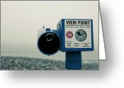 Telescope Greeting Cards - Pointlessness Is Pointing Telescope Greeting Card by Andy Teo aka Photocillin