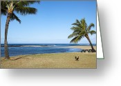 Kelley King Greeting Cards - Poipu Beach Greeting Card by Kelley King
